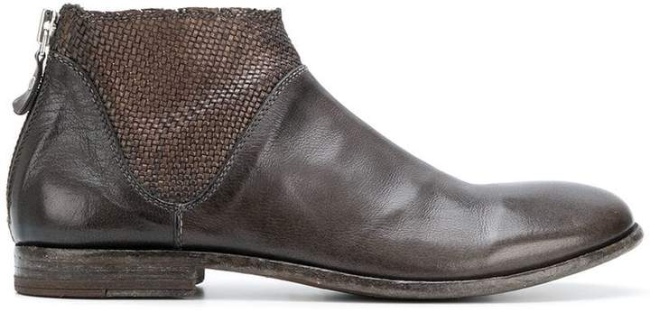 woven-detail ankle boots - Brown Moma fNQwedyYc