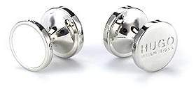 HUGO BOSS Round cufflinks with enamel detail