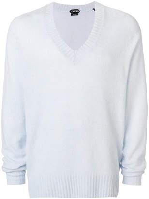 v-neck ribbed jumper