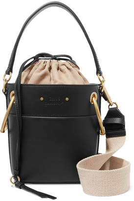 Chloé Roy Mini Leather Bucket Bag - Black