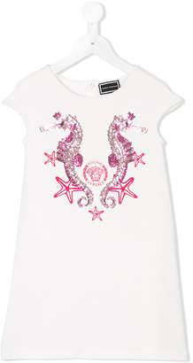 Versace sequin seahorse dress