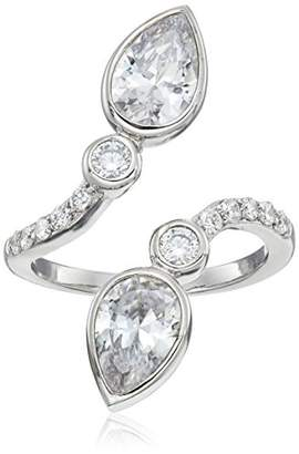 Nicole Miller Pear Crossover Ring