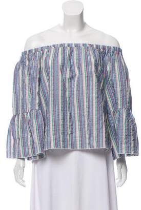 See by Chloe Off-The -Shoulder Striped Top