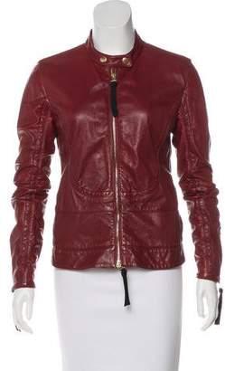 Marni Leather Biker Jacket
