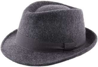 Classic Italy Trilby Pliable Wool Felt Trilby Hat Size 59 cm Gray