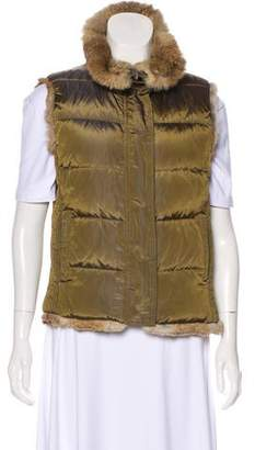 Burberry Fur-Accented Vest