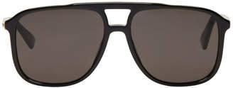 Gucci Black Rectangular 80s Sunglasses