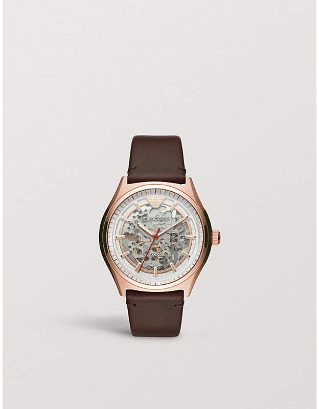Zeta rose gold-toned watch