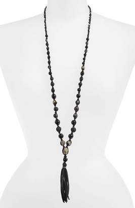 Chan Luu Graduated Semiprecious Stone Beaded Pendant Necklace