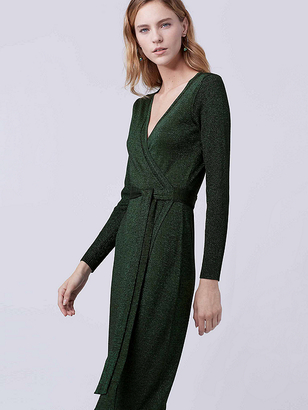 Evelyn Maxi Knit Wrap Dress $598 thestylecure.com