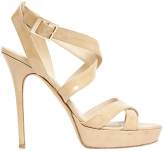 Jimmy Choo Beige Patent leather Sandals