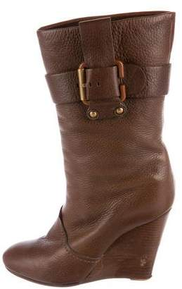 Chloé Buckle-Accented Mid-Calf Boots