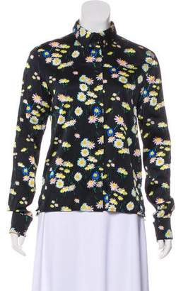 Paco Rabanne Floral Button-Up Top