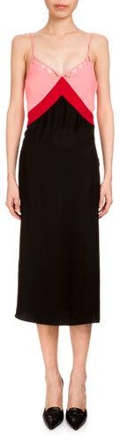 AltuzarraAltuzarra Leslie Colorblock Slip Dress, Black