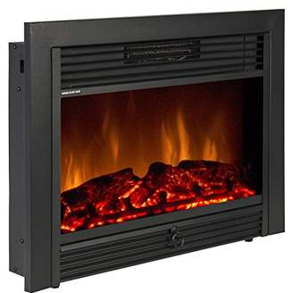 Best Choice Products SKY1826 Embedded Fireplace Electric Insert Heater Glass View Log Flame Remote Home