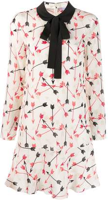 RED Valentino pussy bow shift dress