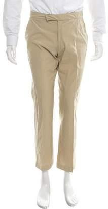 Prada Flat Front Straight-Leg Pants
