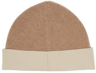 Jil Sander Two Tone Wool Blend Beanie Hat - Womens - Camel