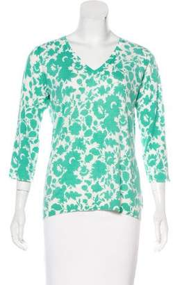 TSE Printed Cashmere Sweater