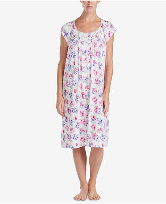 Eileen West Waltz Petite Lace-Trim Knit Nightgown