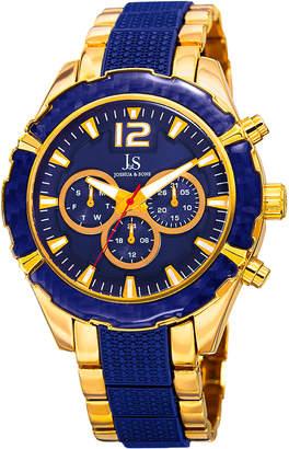 Joshua & Sons Men's Swiss Quartz Dual Time Bracelet Watch, 47mm