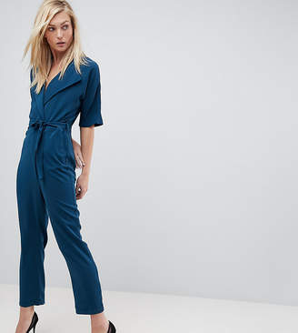 Asos Tall TALL Wrap Jumpsuit with Self Belt