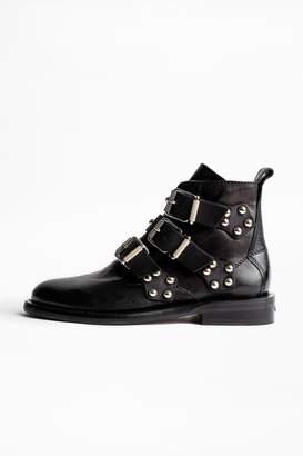 Zadig & Voltaire Zadig Voltaire Laureen Buckle Studs Ankle Boots