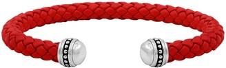 Ecclissi Sterling Silver Braided Cuff Bracelet