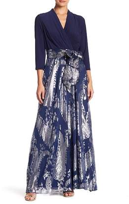 Chetta B Surplice Maxi Dress