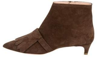 Rupert Sanderson Suede Pointed-Toe Boots