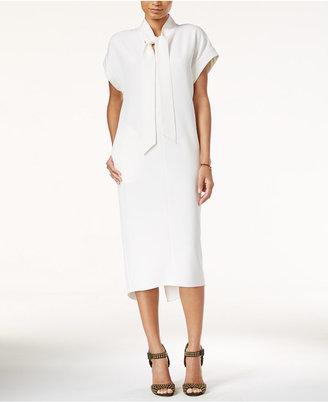 RACHEL Rachel Roy Tie-Neck Midi Dress $119 thestylecure.com