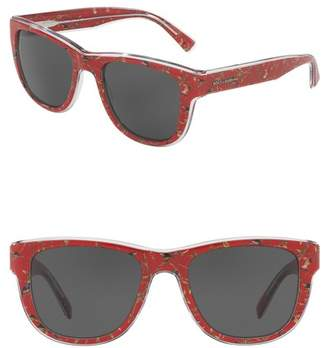 Dolce & Gabbana 54mm Square Sunglasses