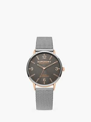 Superdry Unisex Urban Mesh Bracelet Strap Watch