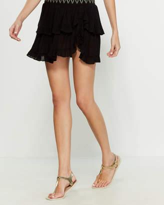 Soluna Swim Stitch Ruffle Skirt Cover-Up