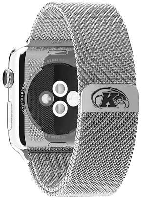 Affinity Bands Kent State Golden Flashes Stainless Steel Band for Apple Watch - 38mm