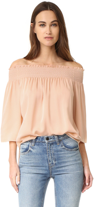 Theory Elistaire Blouse $295 thestylecure.com