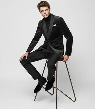 Reiss KNIGHTSBRIDGE TUXEDO TROUSERS Black