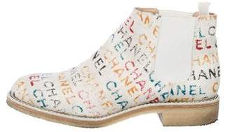 Chanel 2014 Logo Canvas Boots