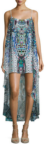 CamillaCamilla Embellished High-Low Coverup Dress