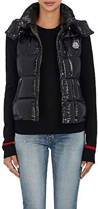 Moncler Women's Galene Down-Filled Tech-Taffeta Hooded Vest