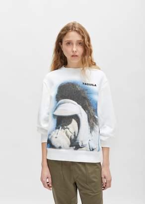 Tim Coppens Printed MA-1 Sweatshirt White