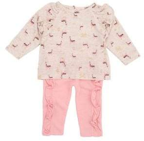 Jessica Simpson Baby Girls Two-Piece Ruffled Top Pants Set