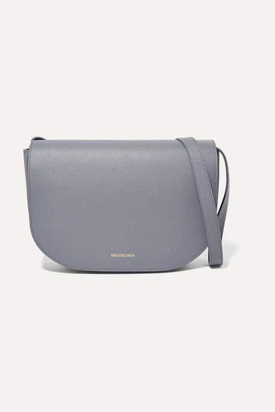 Balenciaga - Ville S Aj Printed Textured-leather Shoulder Bag - Gray