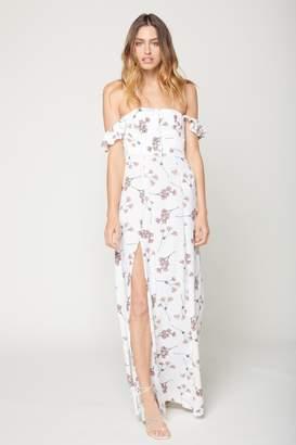 Flynn Skye Bardot Maxi - White Cherry Blossom