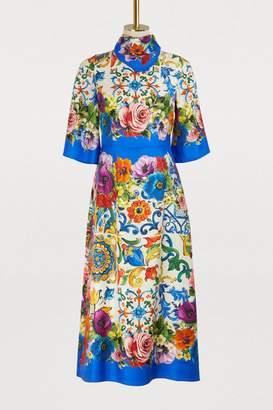 Dolce & Gabbana Maiolica printed silk dress