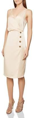 Reiss Peppa Button-Detail Dress