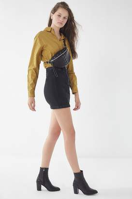 A Gold E AGOLDE Siouxise Zip-Front Mini Skirt