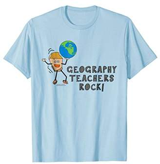 Geography Teachers Rock Funny School Teacher T Shirt