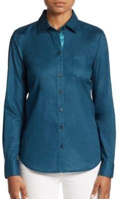 Robert Graham Willow Stretch-Cotton Blouse