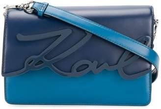 Karl Lagerfeld signature glaze shoulder bag